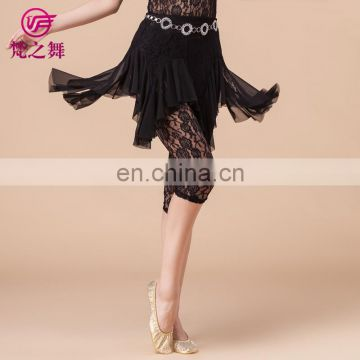Uniique design high lace cheap ballroom belly dance short skirt for women Q-6045