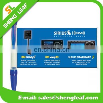 New style promotional banner pen with soft rubber grip