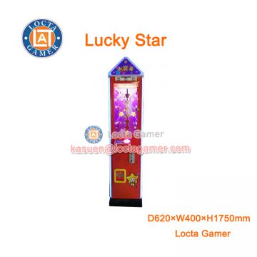Zhongshan amusement equipment, hot sale, claw crane game machine, gift for kids, UFO catcher, Lucky Star, coin operated