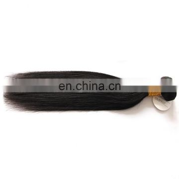 ALI hot selling 100% unprocessed virgin brazilian straight hair extension