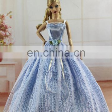 Blue Fashion Princess Doll Clothes