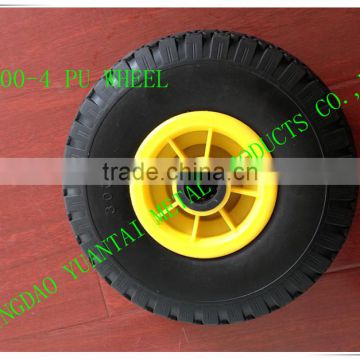 wheel barrow, garden tool cart, hand trolley use air wheel cart wheel PU foam flat free pneumatic solid rubber caster wheel