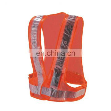 LED safety Vest ,with Hi-Vis Reflective PVC Tape and LED light inner