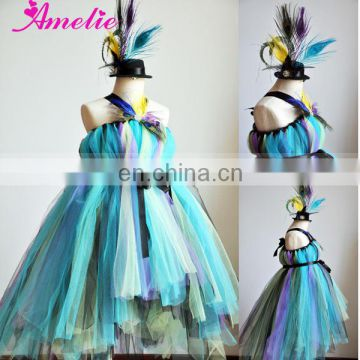 Peacock Flower Girl Tutu Dress