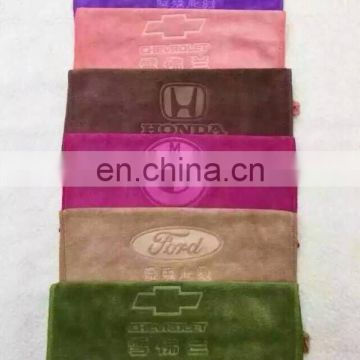 Customized emboss design excellent water absorption microfiber Face Towel