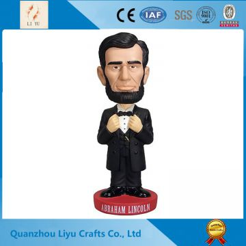 STU Glass Man Figure Polyresin Bobble Head