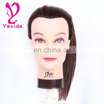 Lightweight Cosmetology 100% human hair training doll head training head for barber