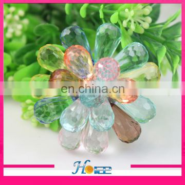 new fashion colorful handmade acrylic shoe flower for women shoe ornaments