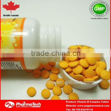 Private label wholesale healh food vitamin b complex tablets