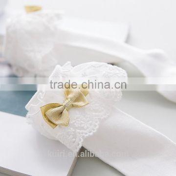 12da4a6e9 ... Girls Kids Lace socks long For Children Cute Cotton Knee high school  sock with bow Girl