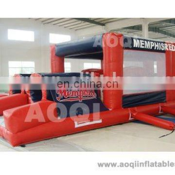 AOQI with free EN14960 certificate adult bounce house obstacle course