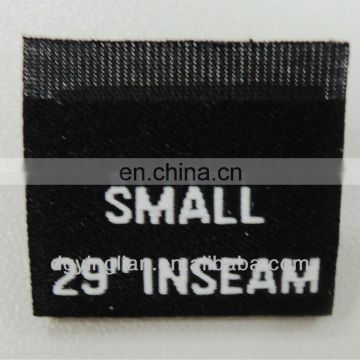 Custom middle folding clothing woven size labels