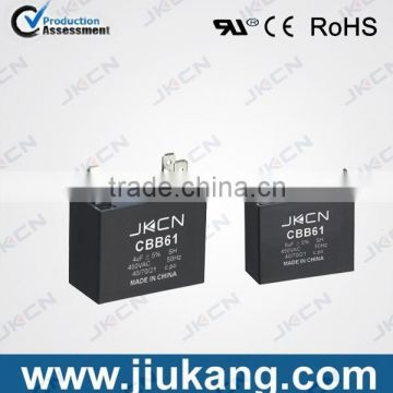 China Manufacturers fan ac motor capacitor of cbb61 450v 1.5uf for sale