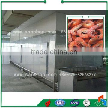 seafood tunnel quick freezer/quick-freezing machine