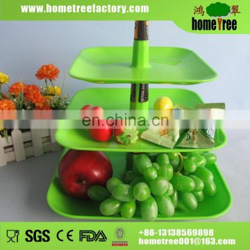 Hometree 2016 New Product 3 Layer Crystal Fruit Plate Candy Plate