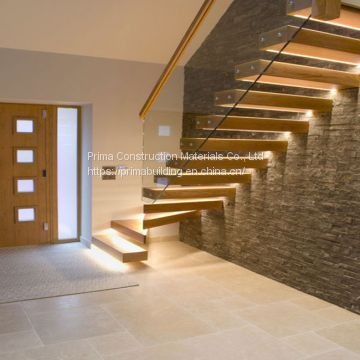 Factory Price Of Interior Wood Floating Stairs For Villa ...