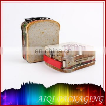 Sandwich shaped lunch tin
