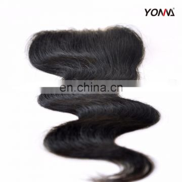 Wholesale Top grade Hot selling raw Cambodian hair Body wave smooth lace closure