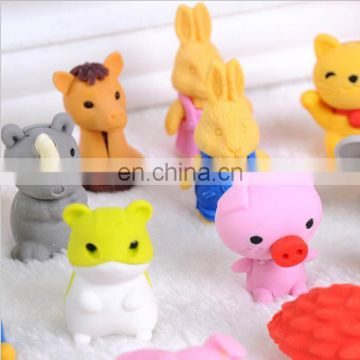 3D animal erasers Disassembled 3D animal erasers Colorful Erasers