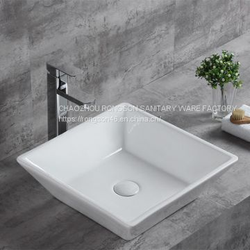 China Supplier bathroom small size sanitary ware good sales one piece wall hung hand basin triangle corner sinks