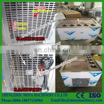 commercial rental single double pan frozen yogurt fried ice cream roll machine for sale