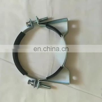 Galvanized rubber saddle pipe steel clamp