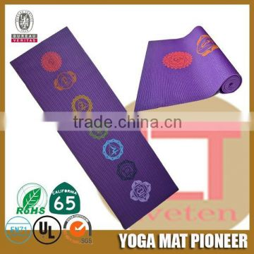 Thin full color or screen printed eco yoga mat,European certificates eco yoga mats RoHs certified