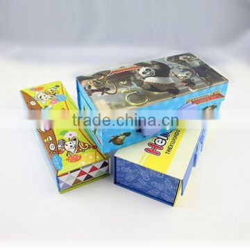 XG-2002 custom made pencil box for school hard paper pencil box with password