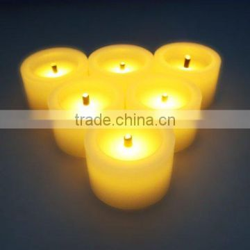 Flameless Candles,LED Battery Powered Candles ~6 Real Wax Mini Votive Black Wick