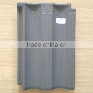 Chinese style interlocking glazed clay roof tiles, outdoor waterproof roofing material