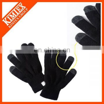 Promotional acrylic knit texting gloves