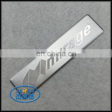 Competitive price silver custom brushed badge aluminum label