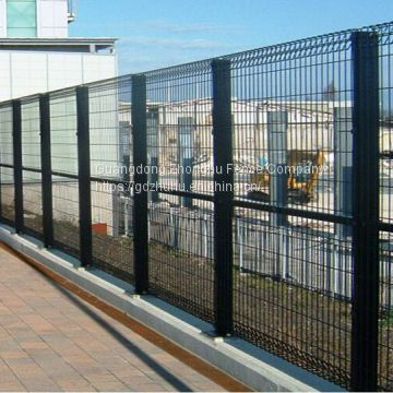 1800mm x 2400mm heavy welded wire mesh fence panels design metal decorative garden fence