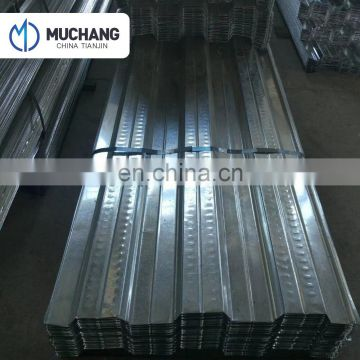 zinc coated metal decking sheet material for construction