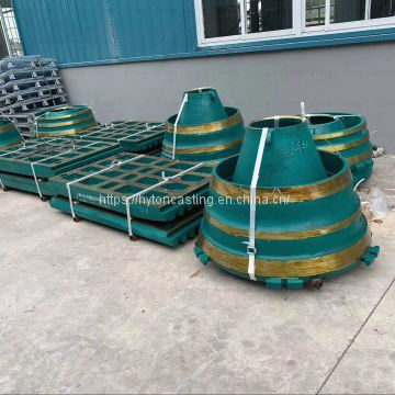 attachment parts head liner bowl liner of high manganese steel suit gp200s metso nordberg cone crusher