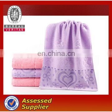 Hotel Used 100% Cotton Customized Soft Fabric White Linen Face Towel