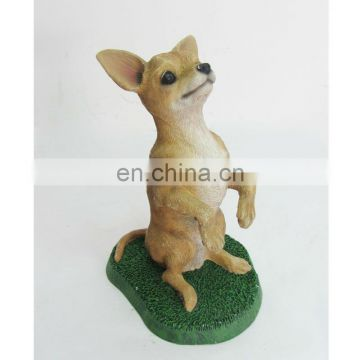 realistic lovely small dog sculpture