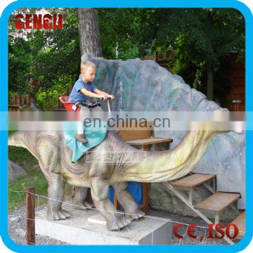 Amusement Park High Simulation Coin Operated Dinosaur Ride For Sale