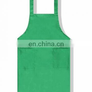 2017 Customized cotton kitchen apron/garden apron with pockets