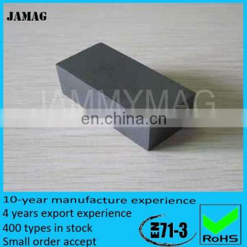 Ferrite block magnet used for genetor