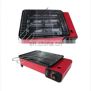 ODM/OEM cool rolled steel and portable gas camping stove with barbecue a gas