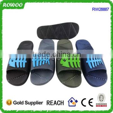 Slide flat slippers man design and lady design slippers