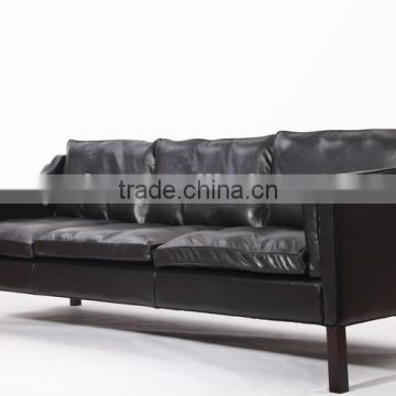 3 seater black genuine leather european style recliner sofa borge mogensen sofa                                                                                                         Supplier's Choice