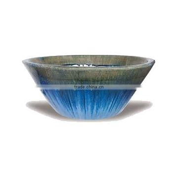 Ceramic Dripped Paint Asian Bowl