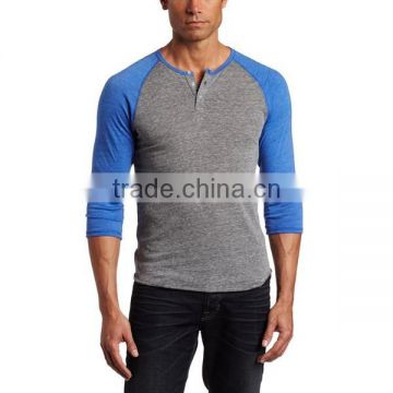 Cheap Custom Men's Raglan Henley Shirt