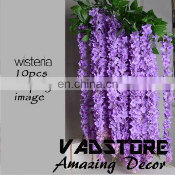 "Artificial Silk Wisteria Home Garden Hanging Flowers Plants 64"" purple Wisteria Wedding Vine Decor Wedding Flower Garland"