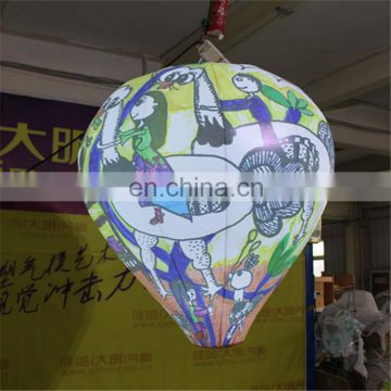 vivid giant customized out of shape scrawl hanging LED light balloon for advertising