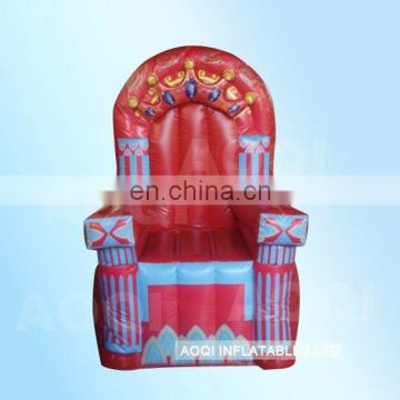 AOQI amazing King throne inflatable chair from China professional manufacturer