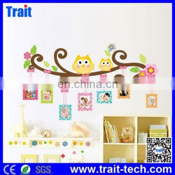 Lovely Owl and Tree Pattern DIY PVC Free Removable Wall Decal Wall Sticker 60x90cm