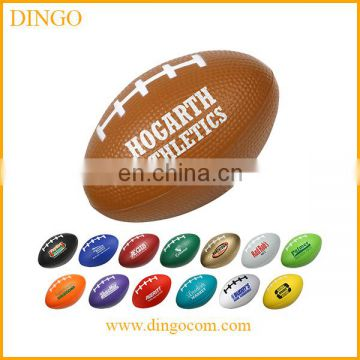 New design printed football stress ball keychain